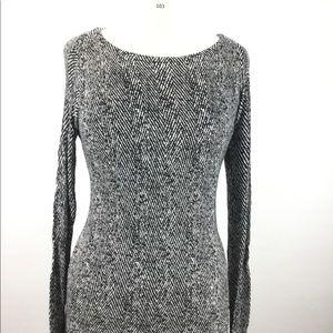 White House Black market print sweater B-103